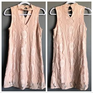 C Wonder • Blush Pink Lace Dress